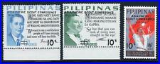 PHILIPPINES 1972 SCOUTS CONFERENCE SC#1160-62 MNH FLAGS