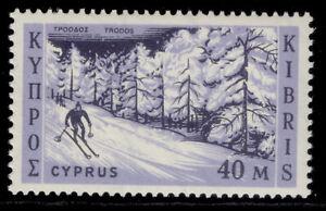 CYPRUS QEII SG218, 40m black & violet blue, NH MINT.