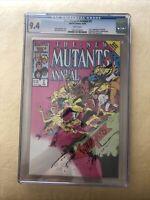 New Mutants Annual (1986) # 2 (CGC 9.4 WP) 1st US App Psylock !