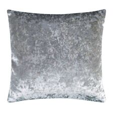 """Crushed Velvet Cushion SILVER / GREY COVER ONLY 18"""" 20"""" 22"""""""