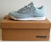 Womens Genuine Reebok Princess Classic Pale Blue Suede Retro Trainers Size 3UK