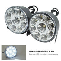 2Pcs Round Car LED Bulbs White Light Head Light Daytime Driving Running Fog Lamp