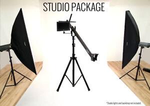 ProAm USA Orion JR DVC60 Studio Production Package 4 ft Compact Camera Crane Jib