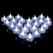12x Cool White LED Electronic Battery Candle Tea Light Flameless Bowl Table Home