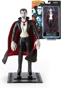 Bendyfigs Dracula 19cm, The Noble Collection Figurine Monster with Stand