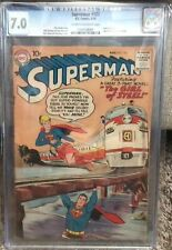 D.C. Comics, Superman #123, First Cameo/Trial Supergirl, CGC 7.0, Cr/OW Pgs!