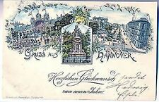 L 13,  Litho, Gruss aus Hannover, Mehrbild, 1897 gl.