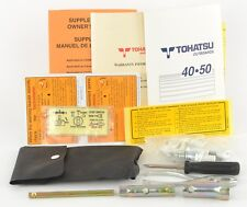 Tohatsu 40-50 Outboard Owners Manual Stickers Tools Rope Spark Plug Lot F3