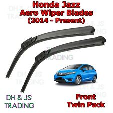(14-19) Honda Jazz Aero Wiper Blades / Front Windscreen Flat Blade Wipers Mk3