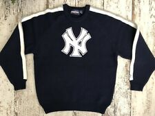 Starter New York Yankees Vintage Blue White Mens Knit Sweater Size XL