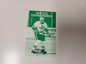 RS20 Seattle Thunderbirds 1990/91 Minor Hockey Pocket Schedule - Rainier Beer