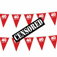 40th Birthday Party Bunting Decorations Props Decs For Men & Women Funny Adult