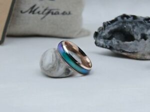 Rose Gold Stainless Steel Mood Ring