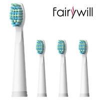 Fairywill 4Pcs Soft Replacement Heads for Sonic Toothbrush FW-508 507 917 659