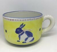 Present Tense Italian Pottery Hand Painted Andrea West Presentense Bunny Cup Mug
