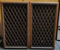 "Radio Shack Nova-8 Speakers Cat. No. 40-4020 10"" 4 way 1977 Vintage Pair Tested"