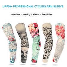 2Pcs Tattoo Cooling Arm Sleeves Cover Uv Protection for Men Women Cyling Runing