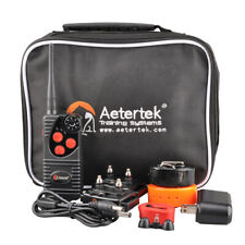 AETERTEK AT-216 Rechargeable 2- Dog Training Shock Vibration Collar Bark Trainer