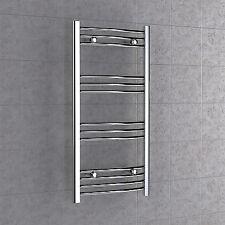 Chrome Curved Towel Radiator 500mm x 1000mm Bathroom Rail Heated 50 x 100cm