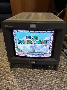 "Sony PVM-9L3 HR Trinitron CRT 8"" Color Monitor Retro Gaming"
