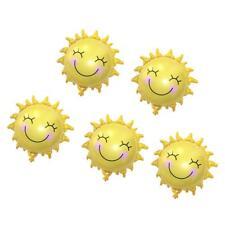 Paquet de 5 Happy Smile Face Sun Foil Ballons Tropical Hawaiian Luau Été