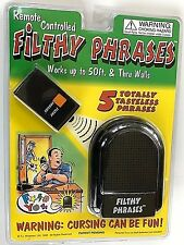 FILTHY PHRASES REMOTE Dirty Joke Prank Humor Adult Funny Sayings Toy Talking Box