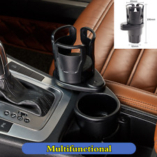 1Pcs Black ABS Car Dual Cup Holder Drinking Bottle Phone Glasses Pen Stowing Box