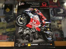 MOTO GP GRAND PRIX DEUTSCHLAND OFFICIAL PROGRAMME 2018