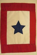 "Blue Service Star, Military, applique decorative Garden Flag 12.5""x18"""