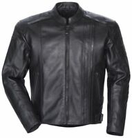 NEW TOURMASTER COASTER JACKET RIDING ALL BLACK LEATHER SIZE MEDIUM WITH TAGS