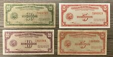 Lot 4 Philippines 5 10 20 Centavos 1949 Banknotes