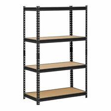 4 Shelf Metal Storage Rack Steel Shelving Adjustable Heavy Duty 36 X 18 X 60 In