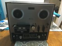AKAI GX-210D 4 TRACK AUTO REVERSE REEL TO REEL TAPE DECK RECORDER 7.5 3.75 ips