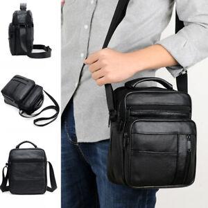 Men's Genuine Leather Messenger Bag Cross Body Shoulder Utility Travel Work  New