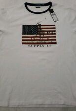 Polo Ralph Lauren Mens Large Custom Slim Fit Polo Pony American Flag Tshirt