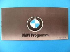 Catalogue / publicité BMW programm / 1975 en allemand