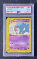 Pokemon PSA 9 Gengar Skyridge #10/144 English Mint