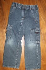 Kids    Wrangler   Blue  Denim Cargo Jeans  Size 6 slim  Adjustable