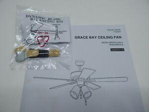 Grace Bay 52-in Matte Black LED Indoor Ceiling Fan BDB52MBK5LS Balance Kit Only