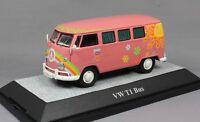 Premium ClassiXXs Volkswagen VW T1 Bus Flowerpower in Pink 13851 1/43NEW Ltd 750