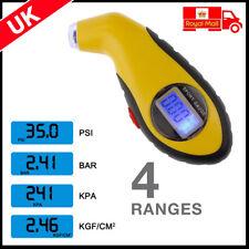 Digital LCD Tyre Air Pressure Gauge Tester For Auto Car Motorcycle Van UK FAST