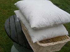 2 x Laura Ashley cushion 100% duck feather pads rectangle 33cm x 55cm