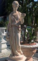 Statue EBE Figur H 100 cm Terracotta Mamor Steinguss Skulptur Art. 403/TE