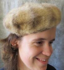 Vintage 50s 60s LLOYD WRIGHT Blond Mink Fur Pillbox Beret Hat XS S