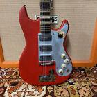 Vintage 1960s Hofner Galaxie Super V3 173 Red Vinyl Skin Electric Guitar for sale