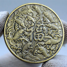 2019 Pig Year Feng Shui Chinese Koi Fish Lucky Wish Coins Happiness Fortune Coin