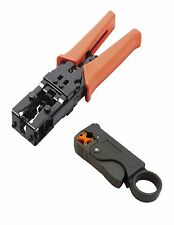 Universal Coax Connector Compression Crimp tool BNC RCA F RG59 RG6 Stripper
