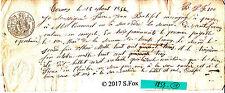 Billet a Ordre bon au porteur manuscrit timbre royal sec& humide 1853 lot 29