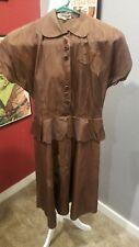 Vintage 40s Fall Burnt Copper Dress