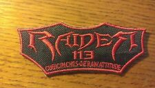 "Yamaha Raider 113 embroidered patch 4.5"" long Black/red"